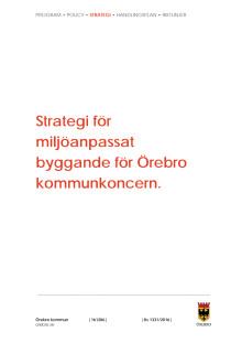 Strategi miljöanpassat byggande