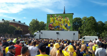 VM-Fotbollsfesten fortsätter - med gratis storbildsskärm