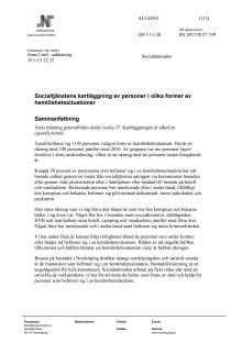 Rapport hemlöshetssituation v 37, 2017