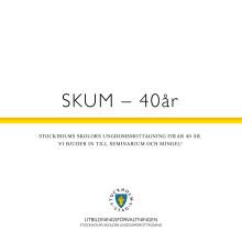 Stockholms skolors ungdomsmottagning 40 år
