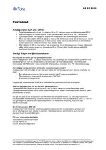 Faktablad Fora Pensionsbesked 2016