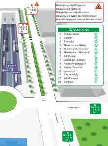 Så flyttas hållplats Knutpunkten maj-december