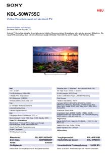 KDL-50W755C von Sony