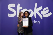 ​Six–year-old stroke survivor receives regional recognition