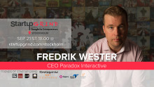 Fredrik Wester, CEO of Paradox Interactive @ Startup Grind