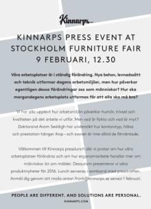 Inbjudan till pressträff under Stockholm Furniture Fair