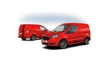 """Ford Transit Courier und Ford Tourneo Courier jetzt auch als """"Sport""""-Modelle; Nutzfahrzeug-Marktanteil weiter gesteigert"""
