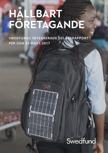 Swedfunds integrerade delårsrapport jan-mars 2017