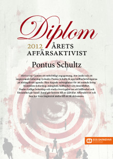 Pontus Schultz är Årets Affärsaktivist