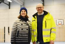 Byråden besøkte Årvoll flerbrukshall