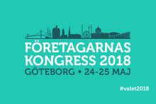 Toppolitiker och ordförandeskifte på Företagarnas kongress i Göteborg 24-25 maj