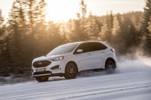 Sportiga, nya Ford Edge på provkörning i Åre