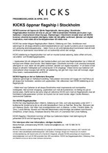 KICKS öppnar flagship i Stockholm