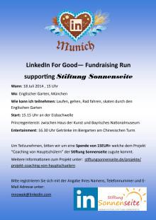 LinkedIn For Good— Fundraising Run 2014