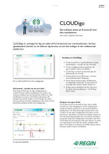 Produktblad för CLOUDigo molntjänsten