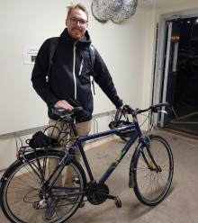 Andreas redo att bli vintercyklist