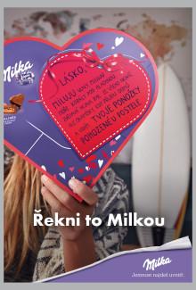 Milka zapojí do Valentýna Slzu