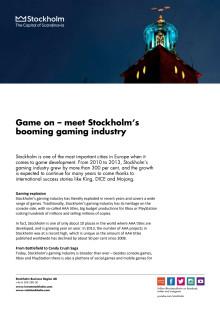 The game scene in Stockholm 2014