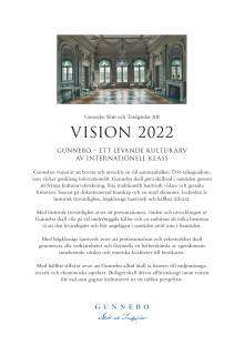 Vision för Gunnebo Slott och Trädgårdar AB