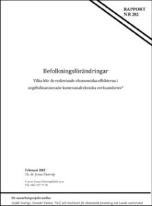 SVU-rapport C LU nr 202: Befolkningsförändringar - Vilka blir de redovisade ekonomiska effekterna i avgiftsfinansierade kommunaltekniska verksamheter?
