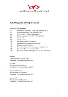 Bibliografi Bart Moeyaert