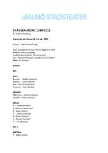 Pressmaterial till Skånska mord 1989-2015