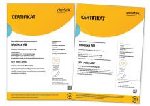 Lyckad omcertifiering av Modexa AB:s ledningssystem för kvalitet och miljö
