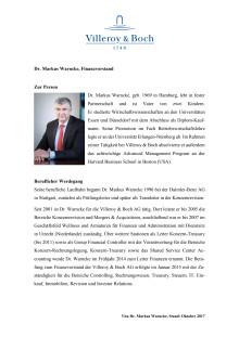 Vita Dr. Markus Warncke