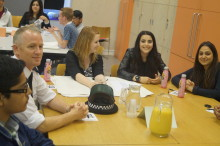 Teenagers quiz top decision makers at third question time event