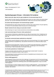 Information för kunderna