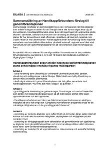 Bilaga 2 Sammanställning av Handikappförbundens förslag till genomförandeplanen