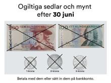 Den 30 juni 2017 blir de äldre mynten och sedlarna ogiltiga
