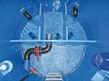 Designad för användning i rena vattentankar