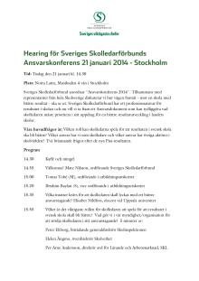 Program för Ansvarskonferensen
