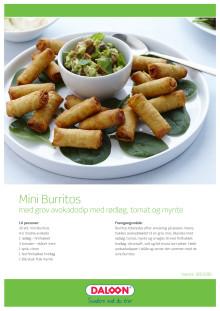 Opskrift: Mini Burritos med avokadodip med rødløg, tomat og mynte