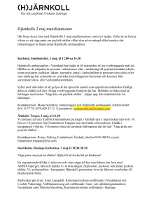 Lista Hjärnkolls 3 maj manifestationer