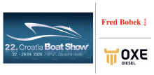 OXE Diesel display at Croatia Boat Show by Fred Bobek d.o.o. 22-26 April