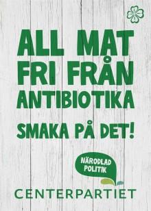 Påminnelse: Annie Lööf presenterar förslag för minskad användning av antibiotika, onsdag 3/9