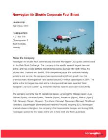 Corporate Fact Sheet January 2015