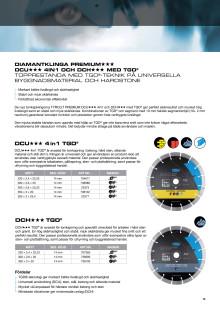 Tyrolit diamantklinga PREMIUM DCU och DCH med TGD