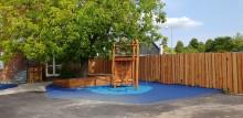 Stevns Dagskoles nye gårdmiljø byder op til leg