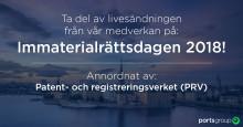Följ livesändningen av Ports Group medverkan på Immaterialrättsdagen 2018 !