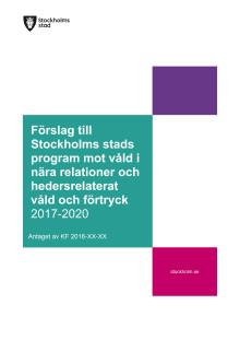 160810 3.1.1-449-2015 SLUTVERSION Stockholms stads program mot våld i nära relationer