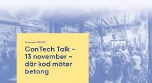ConTech Talk – Där kod möter betong