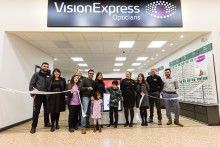 Ten-year-old battling rare Stargardt's disease joins Vision Express to officially open new optical store in Cheshunt