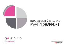 Kvartalsrapport Bemanningsföretagen Q4 2016