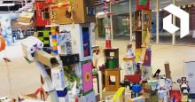 Konstnärer och asylsökande bygger konst på Uppsala Konsert & Kongress
