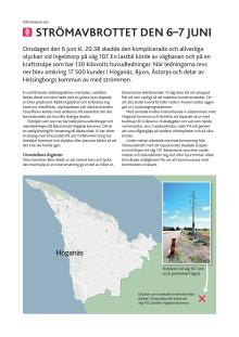 Informationsbrev om strömavbrottet till Höganäs Energis kunder