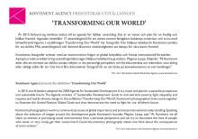 """Bildbyrån Kontinent presenterar """"Transforming our world""""."""