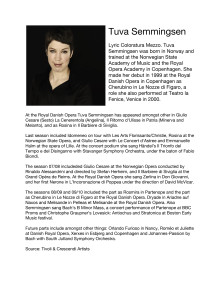 Singer Biography: Tuva Semmingsen, lyric coloratura mezzo soprano (in English)